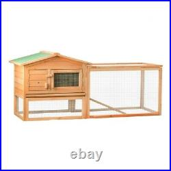 ALEKO Wooden Pet House Poultry Hutch Rabbits Chickens Wooden Cage