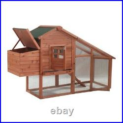 ALEKO Wooden Pet House Poultry Hutch Rabbits Chickens Wooden Cage Roof Access