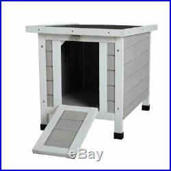 Backyard Small Wooden Mesh Wire Rabbit Hutch Chicken Coop Outdoor Animal Cage