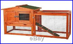 Big Wooden Rabbit Hutch Cage Outdoor Run Small Animal Habitat Ferret Guinea Pig