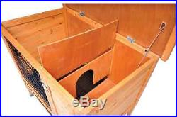 Bunny Cage Rabbit Hutch Large Pen House Wooden Indoor Outdoor Safe Enclosure