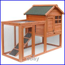 Bunny House Large Chicken Coop Wooden Rabbit Hutch Small Animal Cage Run Ramp