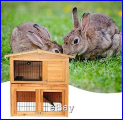 Cage Rabbit Hutch Chicken Coop Animal Run Hen Pet Poultry Wooden Small House 40