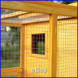 Cat House Outdoor Run Wooden Cat Rabbit Home Outside Fun Run Small Animal Cage