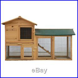 Chicken Coop Backyard Hen Wooden Rabbit House Wood Animal Hutch Cage withRun 58