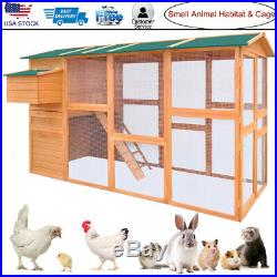 Chicken Coop Hen Pet Small Animal Hutch House Wooden Large Cage Outdoor Nest Box