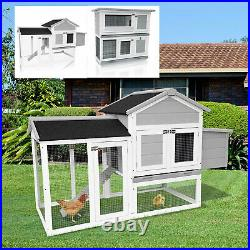 Chicken Coop Wooden Hen Hutch House With Nesting Box Rabbit Hutch Bunny Pet Cage