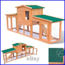 Deluxe Wooden Chicken Coop 75 Large Hen House Rabbit Hutch Poultry Pet Cage