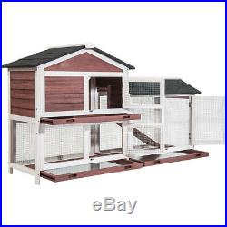 Deluxe Wooden Chicken Coop Hen House Poultry Rabbit Pet Hutch Cage