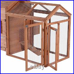 Deluxe Wooden Chicken Coop Hen House Poultry Rabbit Pet Hutch Cage 0319 Nature