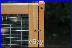 Dog Gate Chicken Coop Rabbit Bunny Hutch Hen House Pet Exercise Pen Fence WithRun
