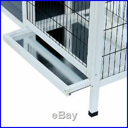 Elegant Rabbit Hutch Bunny Cage Wooden Small Pet Playpen with Elevated Stand