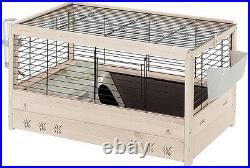 Ferplast FSC Wooden Rabbit Cage ARENA 80, Guinea Pigs, Accessories Included