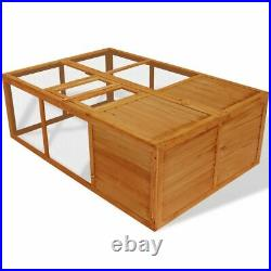 Foldable Animal Cage Wooden Outdoor Chicken Coop Rabbit Hutch Habitat Pet Cage