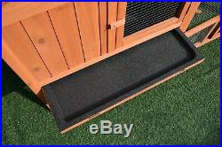 GiantWood Wooden Rabbit&Chicken Hutch and Coop with 57L x 20.4W x 33.6H