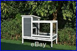 GiantWood Wooden Small Rabbit&Small Animals hutch 38.2 L x 19.6 W x 33.8 H
