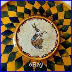 Hand Made, Hand Painted Woodenlazy Susan With Peter Rabbit Painted Center, New
