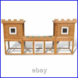 Home Yard Deluxe Rabbit Hutch Wooden Outdoor Pet House Chicken Coop Poultry Cage