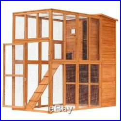 Huge Outdoor Enclosure Cat Dog Bunny Rabbit Cage Small Animal House Large Wooden