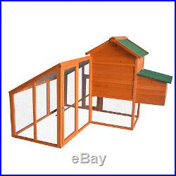 Kinpaw Outdoor Wooden Chicken Coop Large Hen Rabbit House Hutch Poultry Cage