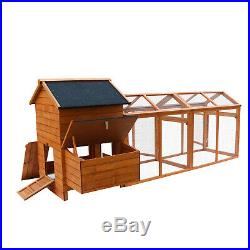 Kinpaw Wooden Chicken Coop Outdoor Large Hen House Rabbit Hutch with Tray & Ramp