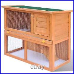 LARGE WOODEN SINGLE RABBIT HUTCH PET INDOOR OUTDOOR HOUSE GUINEA PIG Cage Shelte