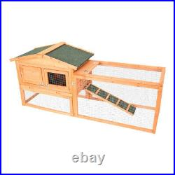Large 62 Wooden Rabbit Hutch Chicken Coop Bunny Hen Animal Cage House withRun