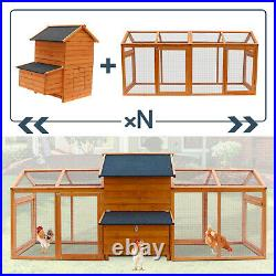 Large Chicken Coop Hen House Poultry Animal Cage Rabbit Hutch Backyard Wooden