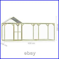 Large Chicken Coop Outdoor Pet Hen Cage Run House Animal Kennel Enclosure Wooden