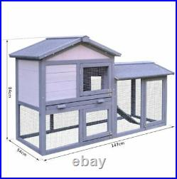 Large Chicken Coop Poultry Wooden Rabbit House Hutch Run Bunny Guinea Pig Cage