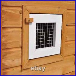 Large Deluxe Rabbit Hutch Wooden Outdoor Pet House Chicken Coop Poultry Cage