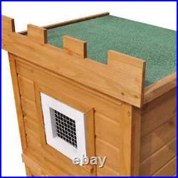 Large Rabbit Hutch Outdoor Wooden Pet House Cage Backyard Small Animal Chicken
