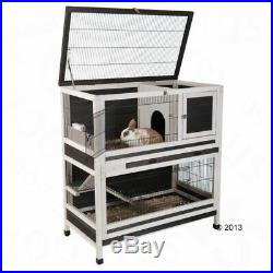 Large Wooden Cage For Small Pets Outdoor Indoor Hutch Rabbit/Guinea Pig House