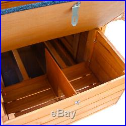 Large Wooden Chicken Coop Combo Animal Pet House Rabbit Hutch Cage Backyard