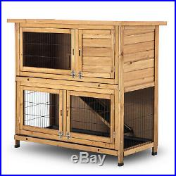 Lovupet 48'' Wooden Chicken Coop Hen House Rabbit Wood Hutch Poultry Cage 1029