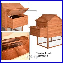 Lovupet 9.3ft Extra Large Wooden Chicken Poultry Pet Coop Hen House Hutch 0324