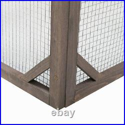 Modern and Simple Outdoor Wooden Rabbit Cat Dog Enclosure Catio Cage for Pets