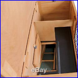 NEW Double Storey Rabbit Hutch with Foldable Ramp Chicken Hen Ferret Wooden Coop