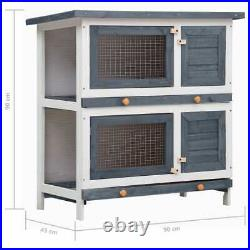 New 2Layer Wooden Rabbit Hutch Chicken Coop Hen House Poultry Pet Cage Outdoor