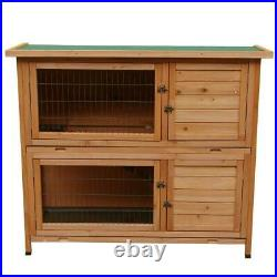 New 48 Wooden Rabbit Hutch Chicken Coop Hen House Poultry Pet Cage