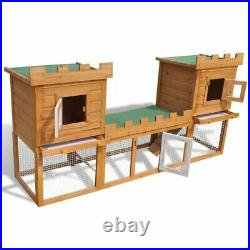 New Deluxe Rabbit Hutch Wooden Outdoor Pet House Chicken Coop Poultry Cage