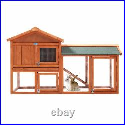 New Wooden Rabbit Hutch Cage House Habitat Animal Pets Chicken Coop Play Center