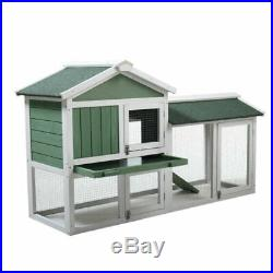 Outdoor Chicken Coop Backyard Animal Hutch Wooden Pet Rabbit House Cage with Run