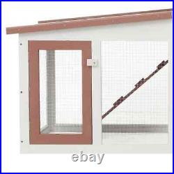 Outdoor Large Rabbit Cage Hutch Wooden Chicken Coop Small Animal House Pet Cage