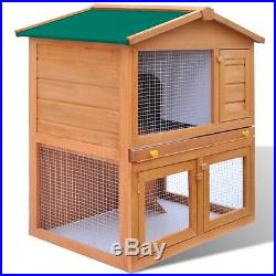 Outdoor Pet Cage Large Rabbit Hutch Kennel Guinea Pig Small Animal Wooden House
