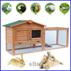 Outdoor Rabbit Hutch Animal House Pet Cage Chicken Cage Hen House Wooden S. M. L