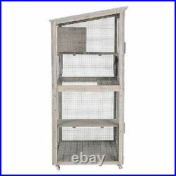 Outdoor Wooden Cat house Run for Cats Cat Catio Cage with 4 wheels USA STOCK