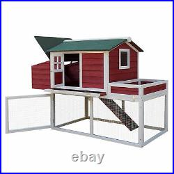 PawHut 63 Chicken Coop Wooden Poultry Hen Hutch House Nesting Cage Box New