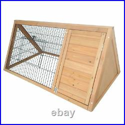 Pawhut 46 Triangle Wooden Rabbit Hutch A-Frame House Chicken Coop Hamster Cage
