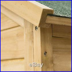 Pawhut 53'' Wooden Chicken Coop Rabbit Hutch Small Pet House Hen Cages